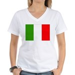 Italy Flag Women's V-Neck T-Shirt