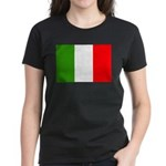 Italy Flag Women's Dark T-Shirt