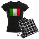 Italy Flag Women's Dark Pajamas