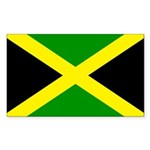 Jamaica Flag Sticker (Rectangle 10 pk)