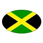 Jamaica Flag Sticker (Oval)