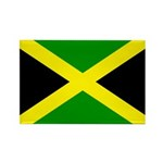 Jamaica Flag Rectangle Magnet (100 pack)