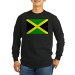 Jamaica Flag Long Sleeve Dark T-Shirt