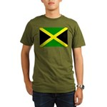 Jamaica Flag Organic Men's T-Shirt (dark)