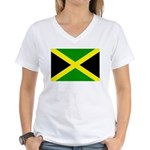 Jamaica Flag Women's V-Neck T-Shirt