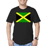 Jamaica Flag Men's Fitted T-Shirt (dark)