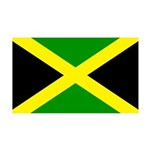 Jamaica Flag 38.5 x 24.5 Wall Peel