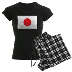 Japan Flag Women's Dark Pajamas