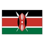 Kenya Flag Sticker (Rectangle 10 pk)