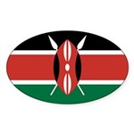 Kenya Flag Sticker (Oval 50 pk)