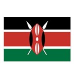 Kenya Flag Postcards (Package of 8)