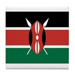 Kenya Flag Tile Coaster