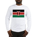 Kenya Flag Long Sleeve T-Shirt