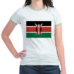 Kenya Flag Jr. Ringer T-Shirt