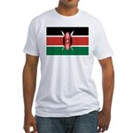 Kenya Flag Fitted T-Shirt