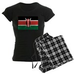 Kenya Flag Women's Dark Pajamas