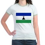 Lesotho Flag Jr. Ringer T-Shirt