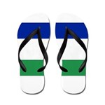 Lesotho Flag Flip Flops