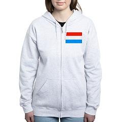 Luxembourg Flag Women's Zip Hoodie
