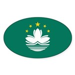 Macau Flag Sticker (Oval 50 pk)