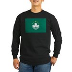 Macau Flag Long Sleeve Dark T-Shirt