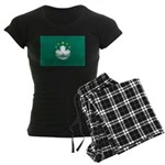 Macau Flag Women's Dark Pajamas