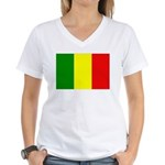 Mali Flag Women's V-Neck T-Shirt