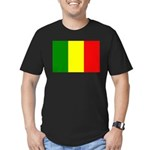 Mali Flag Men's Fitted T-Shirt (dark)