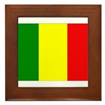 Mali Flag Framed Tile