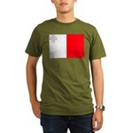 Malta Flag Organic Men's T-Shirt (dark)