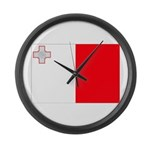 Malta Flag Large Wall Clock