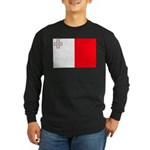 Malta Flag Long Sleeve Dark T-Shirt