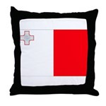 Malta Flag Throw Pillow