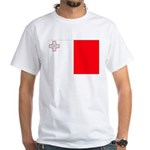 Malta Flag White T-Shirt