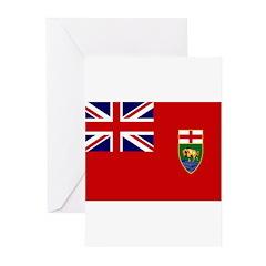 Manitoba Flag Greeting Cards (Pk of 20)