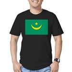 Mauritania Flag Men's Fitted T-Shirt (dark)
