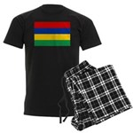 Mauritius Flag Men's Dark Pajamas