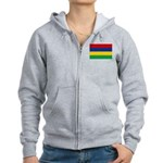 Mauritius Flag Women's Zip Hoodie