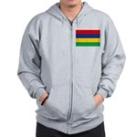 Mauritius Flag Zip Hoodie