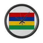 Mauritius Flag Large Wall Clock