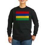 Mauritius Flag Long Sleeve Dark T-Shirt