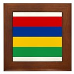 Mauritius Flag Framed Tile