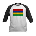 Mauritius Flag Kids Baseball Jersey
