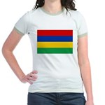 Mauritius Flag Jr. Ringer T-Shirt