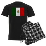 Mexico Flag Men's Dark Pajamas