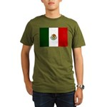 Mexico Flag Organic Men's T-Shirt (dark)