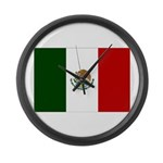 Mexico Flag Large Wall Clock