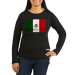 Mexico Flag Women's Long Sleeve Dark T-Shirt