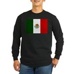 Mexico Flag Long Sleeve Dark T-Shirt