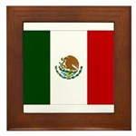 Mexico Flag Framed Tile